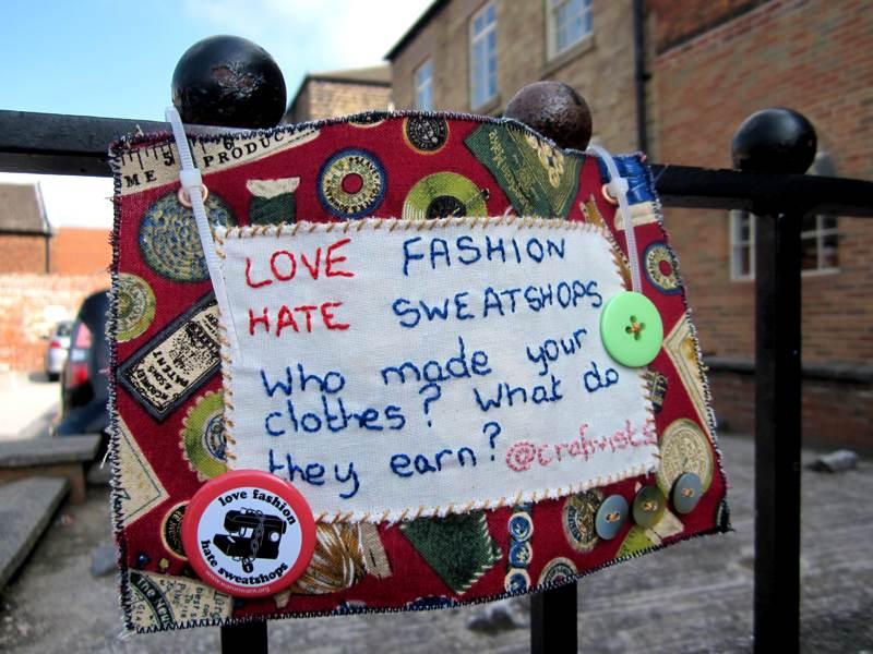 Second Mini Fashion protest Banner.