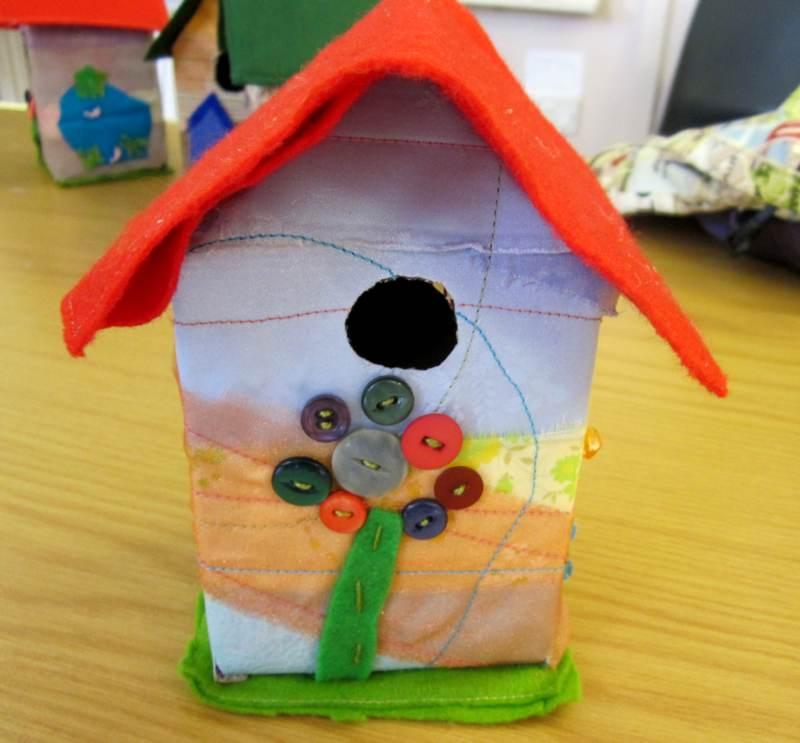 Young Embroiderer Floer Birdhouse.
