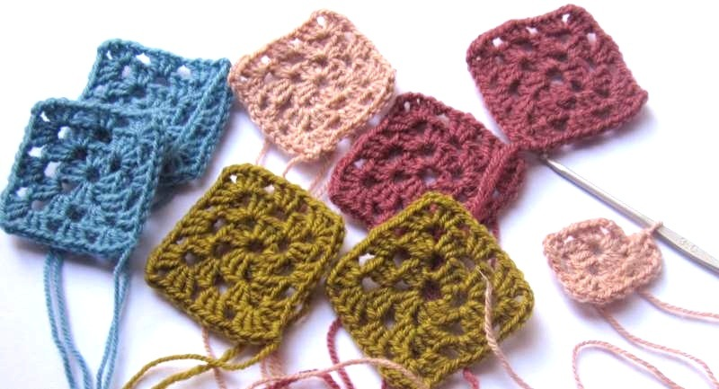 Croched Granny squares.