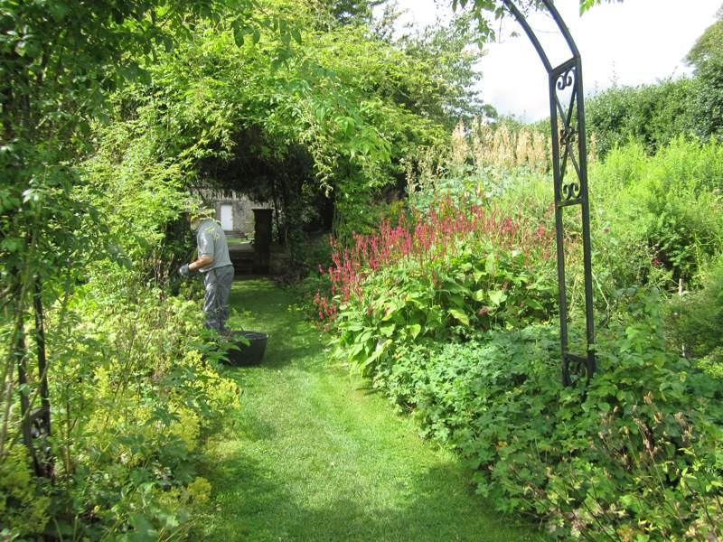 Eyam Hall Work in the Garden.