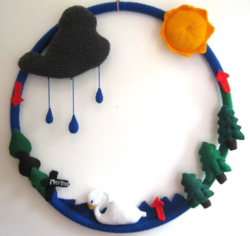 A Knitted Water Cycle