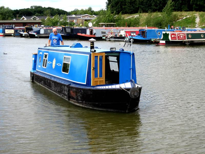 Blue Narrow Boat