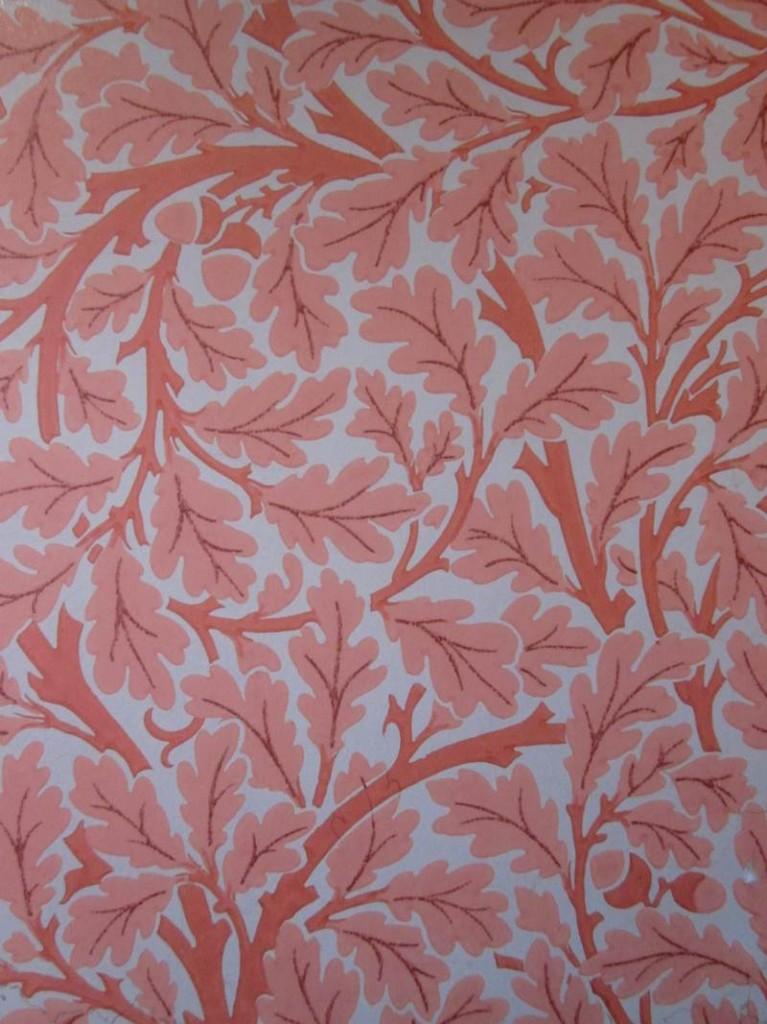 William Morris Red Oak Leaf design