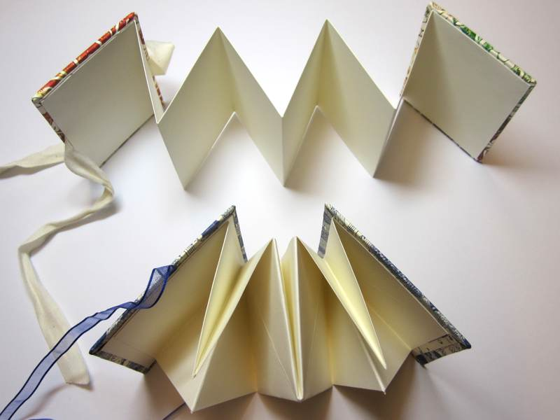 Open books to show how they are constructed