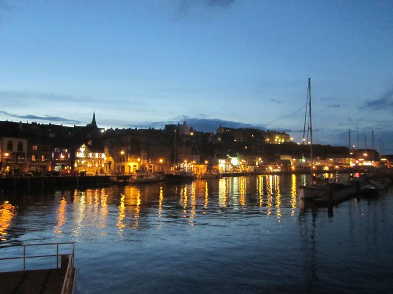 Night time in Whitby.