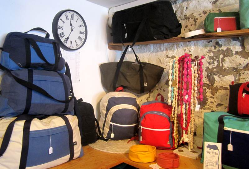rat Bag bags and canvas dog bowls.