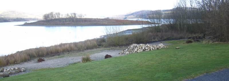 Rocks beside Carsington Water.