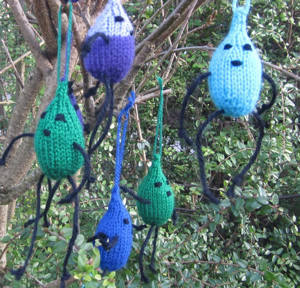 Raindrops knitted for WaterAid