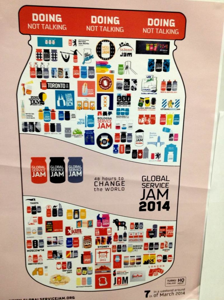 Poster of Service Jam Locations.