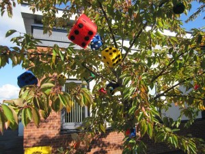 Dice in tree