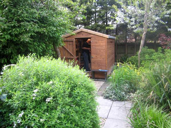 The Beast Shed in our garden.