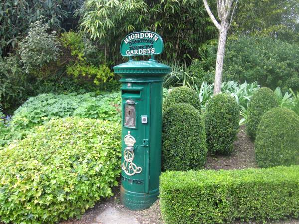 Post Box in Highdown gardens