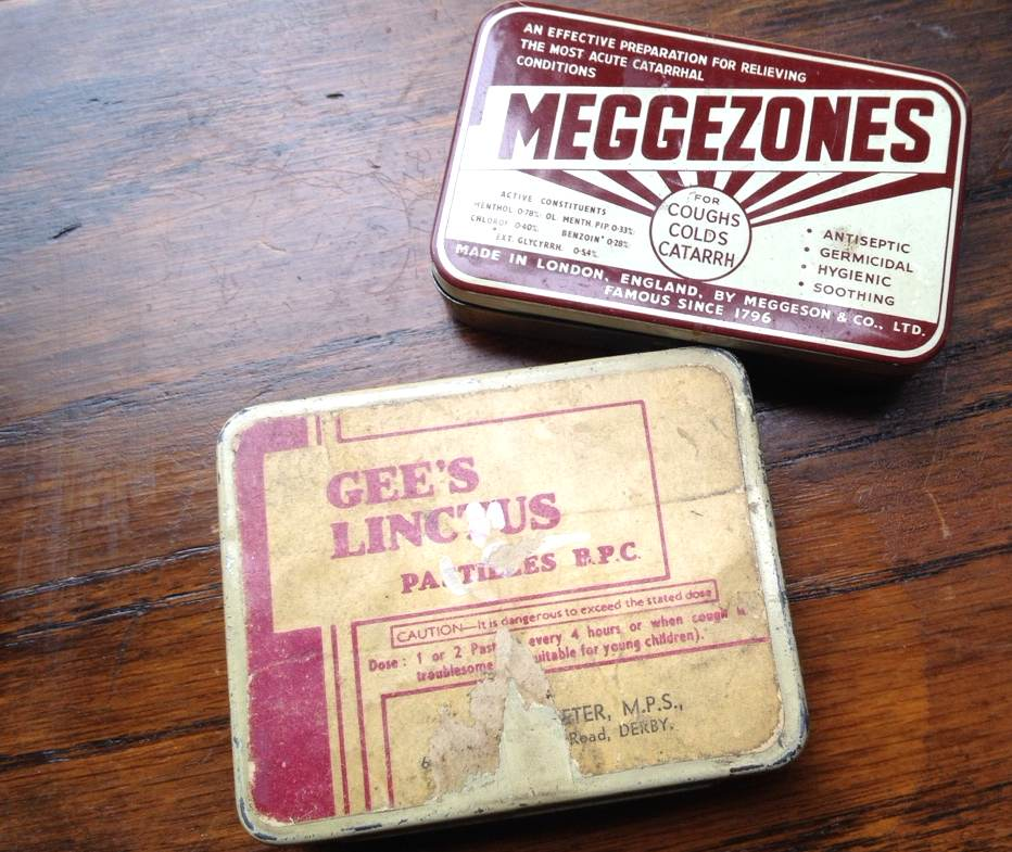 Old battered tins.