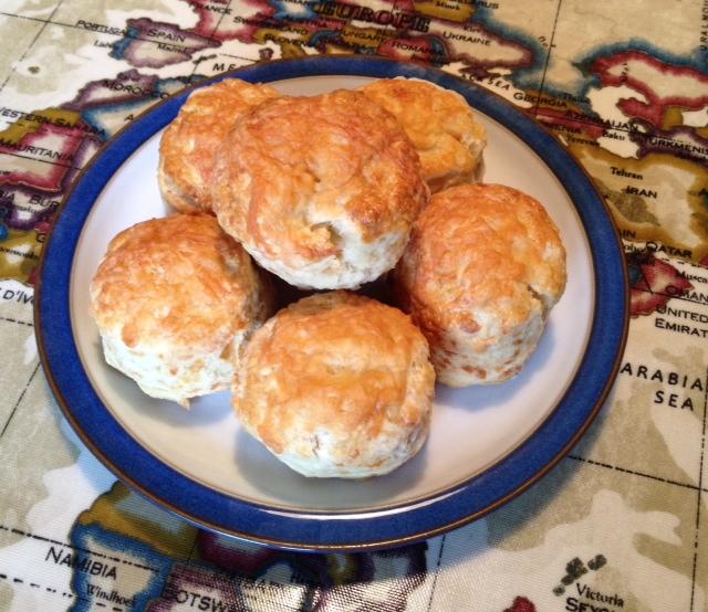 Homemade cheese scones