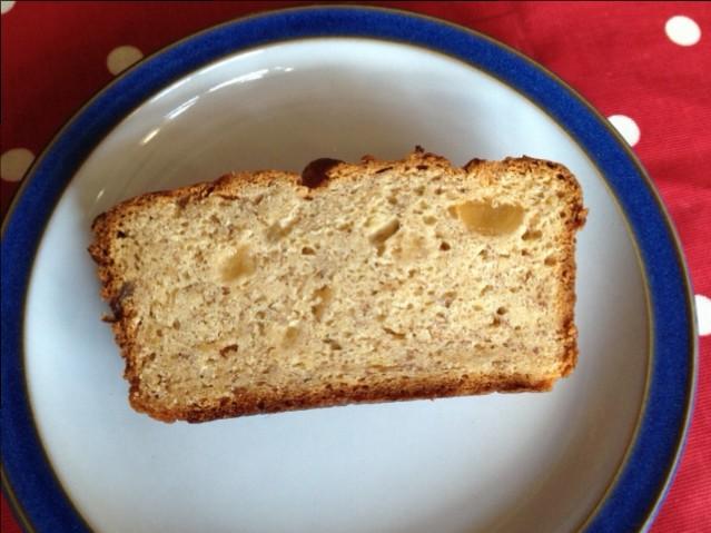 Slice of gluten free bananna loaf