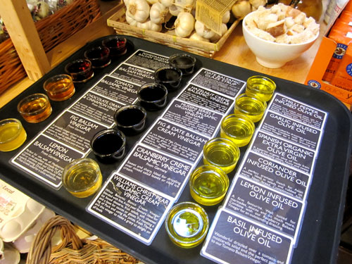 Oil and vinegar tasting