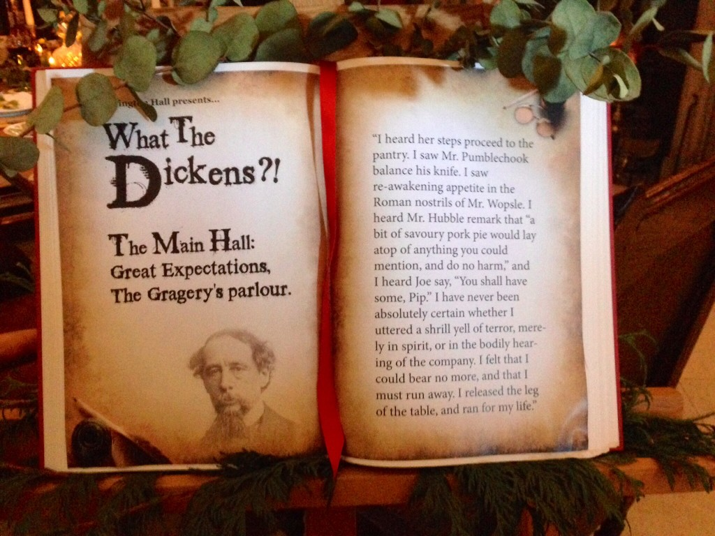 Page fro Dickens at Tissington Hall