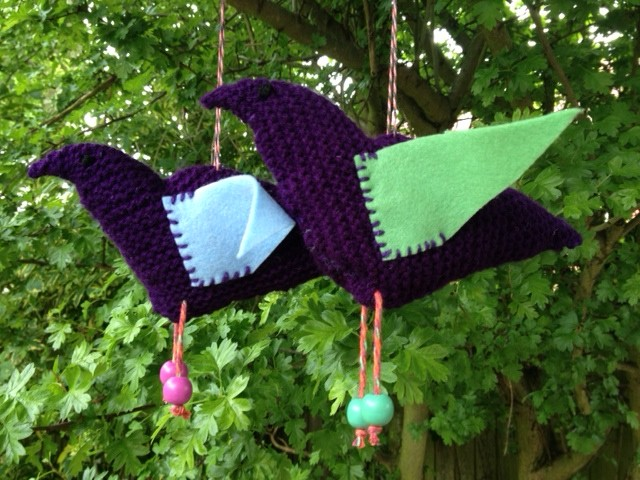 Birds made from squares