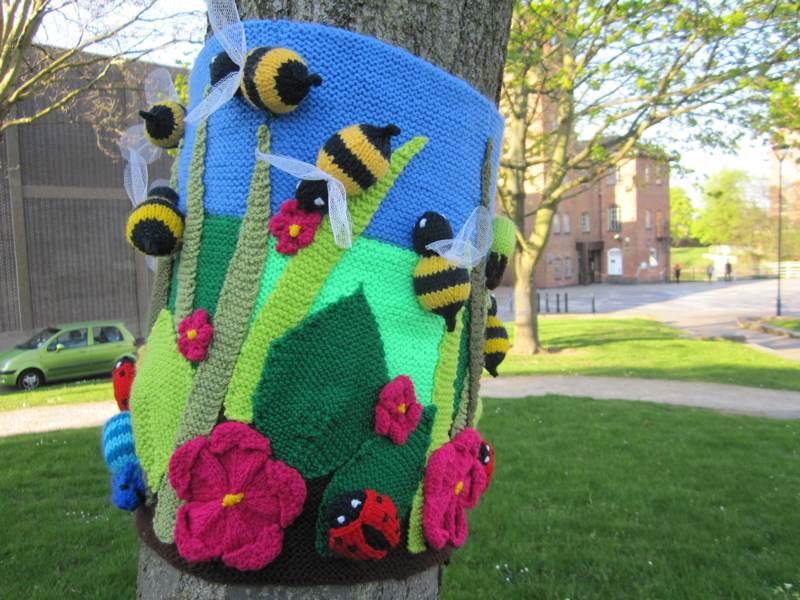 Bees on tree